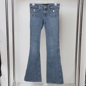 Juicy Couture Vintage Flared Wide Legged Jeans
